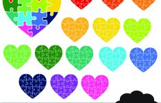 Puzzle Heart Clipart Heart Digital Planner Clipart Rainbow | Etsy   Printable Puzzle Heart