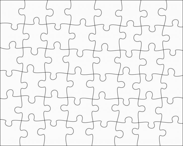 Printable 8X10 Puzzle Template