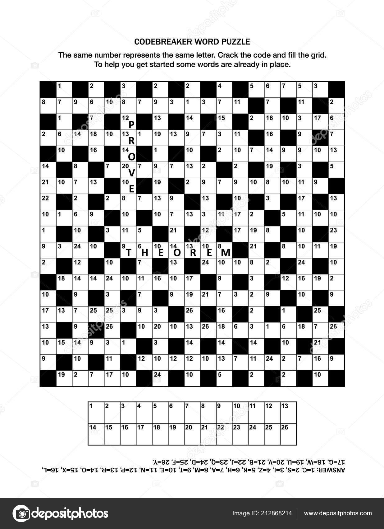Puzzle Page Codebreaker Codeword Code Cracker Word Game Crossword - Printable Codebreaker Puzzles