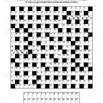 Puzzle Page With Codebreaker (Codeword, Code Cracker) Word Game   General Knowledge Crossword Puzzles Printable