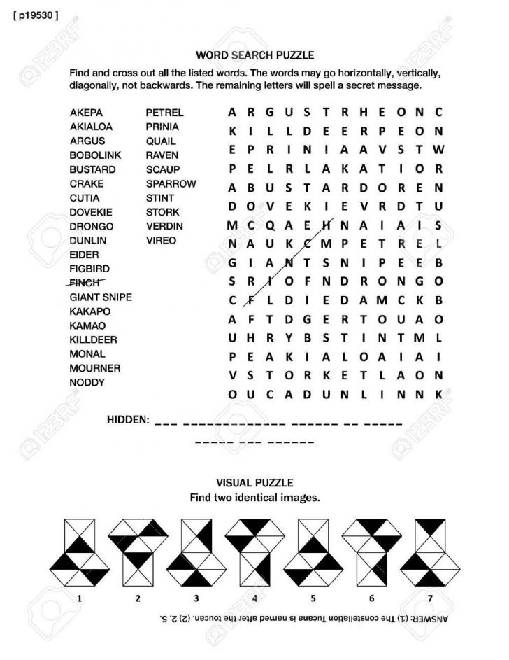 Print Out Puzzle Games