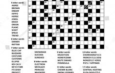Puzzle Page With Two Puzzles: 19X19 Criss Cross (Kriss Kross, Fill   9 Letter Word Puzzles Printable