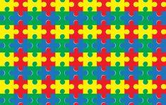Puzzle Piece Adhesive Vinyl 12X12 Pattern Heat Transfer   Etsy   Puzzle Print Vinyl
