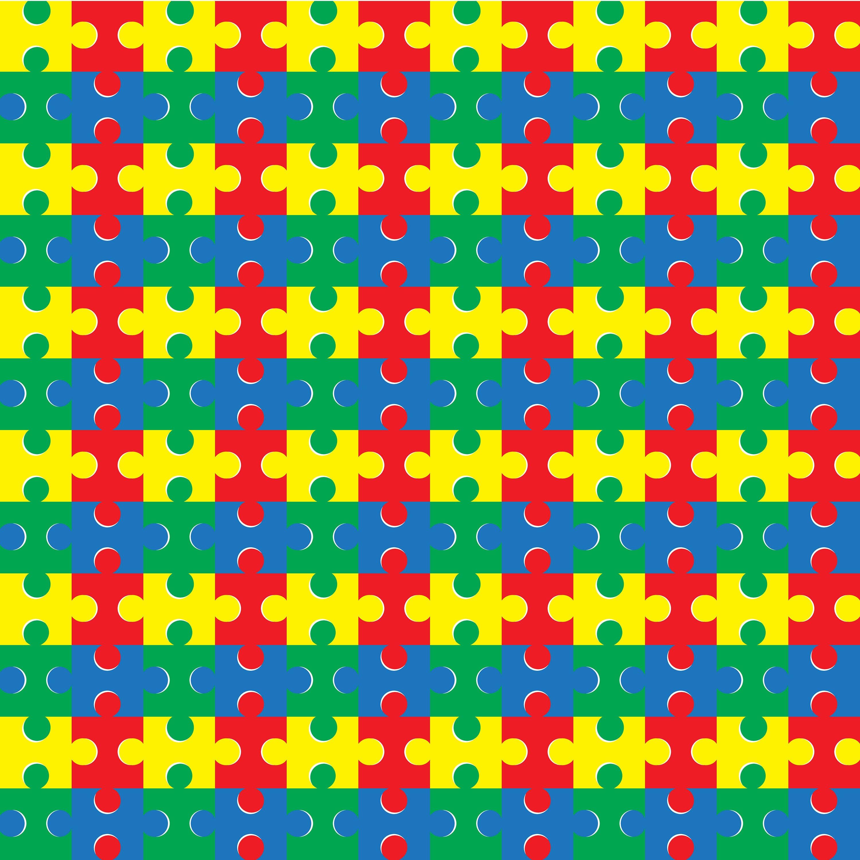 Puzzle Piece Adhesive Vinyl 12X12 Pattern Heat Transfer | Etsy - Puzzle Print Vinyl