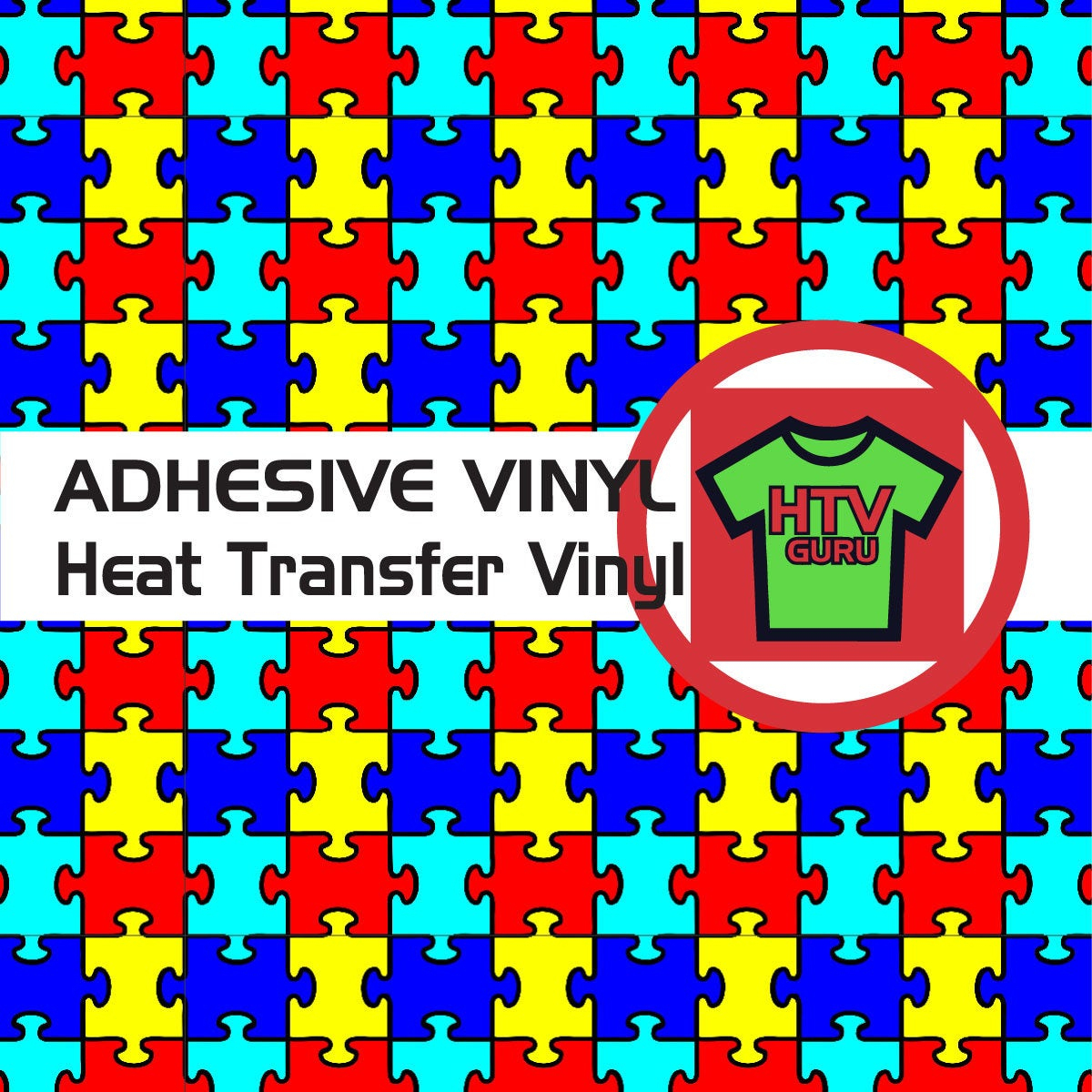 Puzzle Piece Autism Pattern Htv And Outdoor Vinyl Sheets   Etsy - Puzzle Print Htv