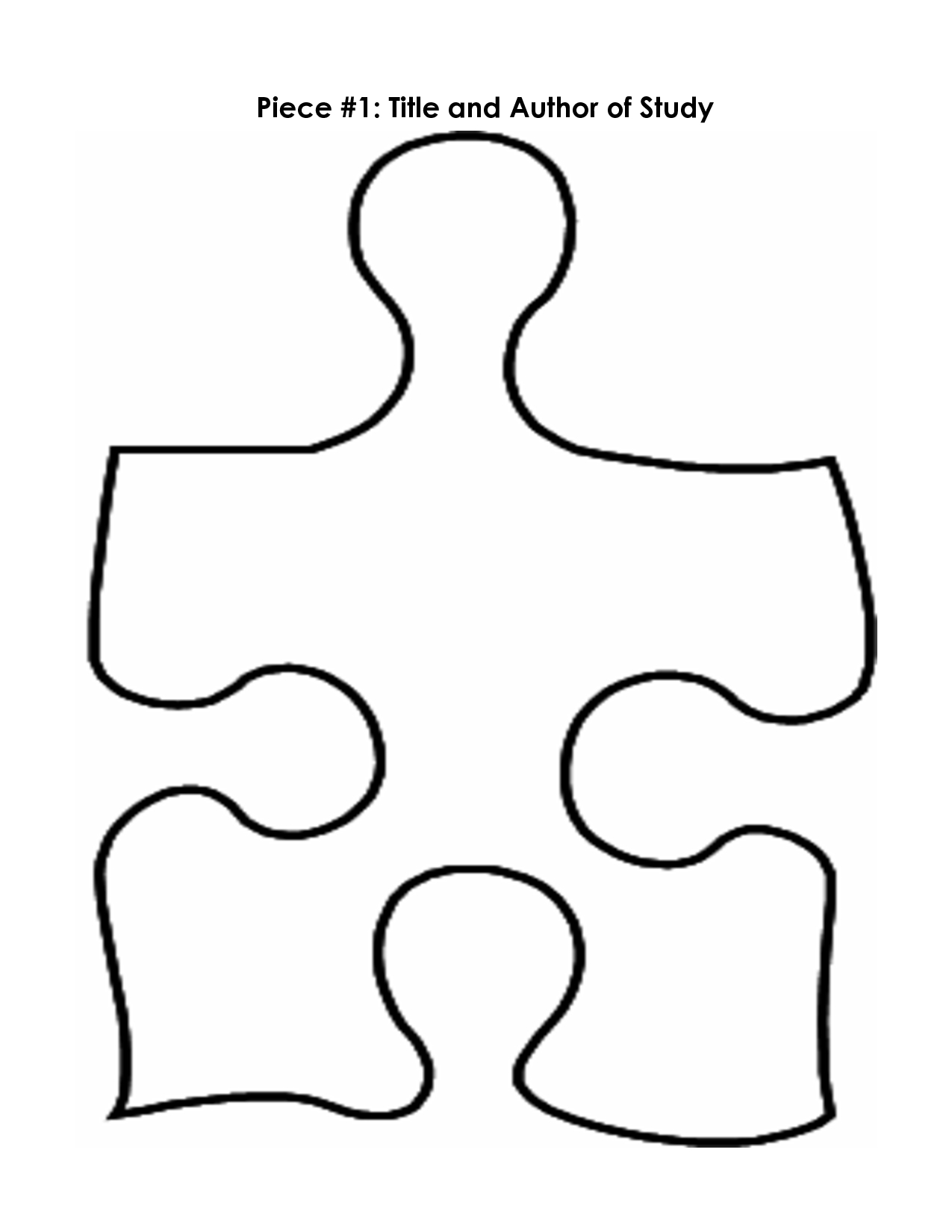 Puzzle Piece Mystery Book Template Pp | Printables | Puzzle Piece - Printable Puzzle Template Free