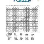 Puzzle Verbs   Esl Worksheetpatricia Elvira   Worksheet Verb Puzzle