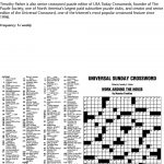 Puzzles And Games From Universal Press Syndicate   Pdf   Universal Crossword Puzzle Printable
