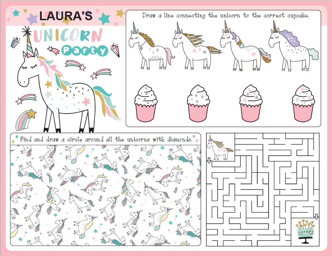 Puzzles Archives - Growing Play - Printable Unicorn Puzzles