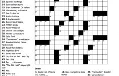 Puzzles For W/e July 15 17 Number Search/sudoku/word Search   Anatomy Crossword Puzzles Printable