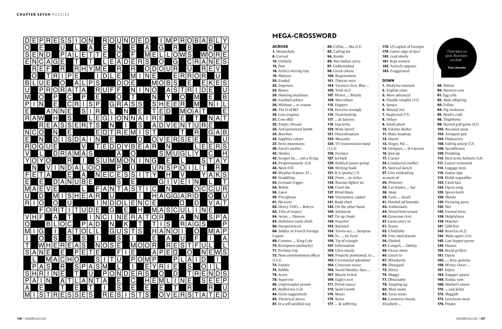 Puzzles | Mindfood - Free Printable Crossword Puzzles October 2017