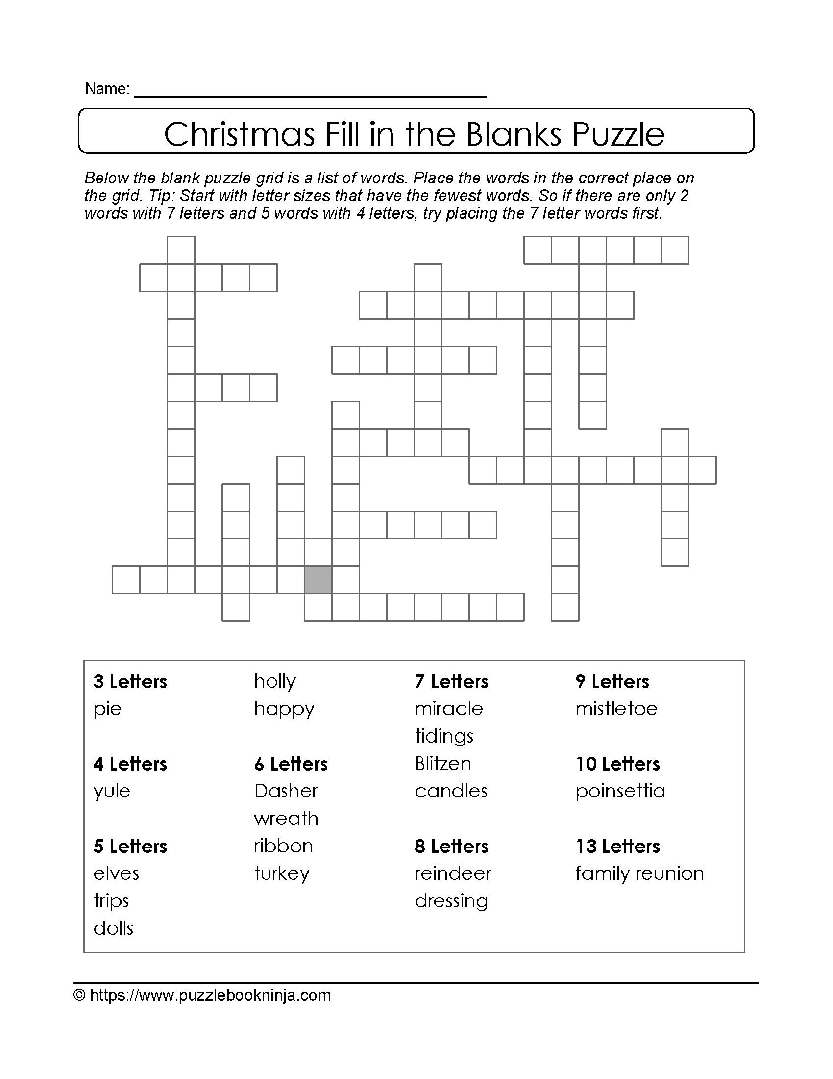 Puzzles To Print. Downloadable Christmas Puzzle. | Christmas Puzzles - Printable Science Puzzles