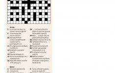 Quick Crossword #30 | New Scientist   Printable Quick Crossword Puzzles