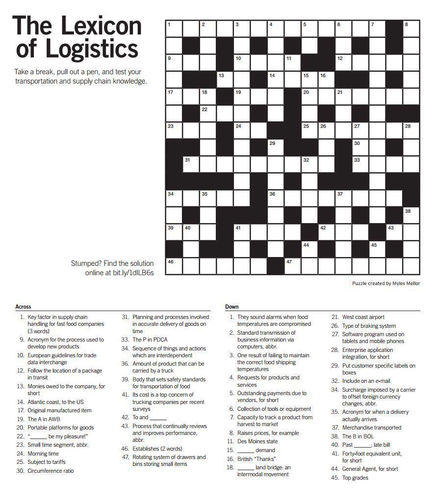"""Quick Logistics On Twitter: """"think You Are A #logistics Expert? Test - Printable Expert Crossword Puzzles"""