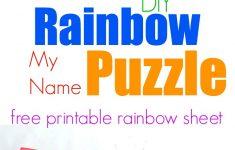 Rainbow My Name Puzzles   Printable Rainbow Number Puzzle