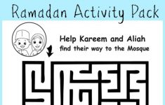 Ramadan Maze And Crossword Printable Activities – In The Playroom – Printable Daily Crosswords For October 2015