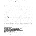 Reading Worksheets | Fourth Grade Reading Worksheets   Reading Printable Puzzle