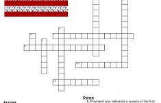 Red, White And Blue Holidays Crossword Puzzle   * Printables   Memorial Day Crossword Puzzle Printable