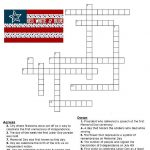 Red, White And Blue Holidays Crossword Puzzle   * Printables   Printable Holiday Puzzles