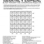 Redhead64's Obscure Puzzle Blog!: Puzzle #166: Anagram Magic Square   Printable Anagram Puzzles