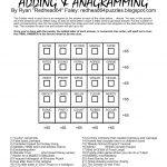 Redhead64's Obscure Puzzle Blog!: Puzzle #93: Anagram Magic Square 2   Printable Anagram Puzzles