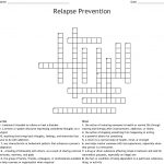 Relapse Prevention Crossword – Wordmint – Free Printable Recovery Crossword Puzzles