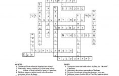 Respiratory Systems Crossword For Word Therapy | Dear Joya   Respiratory System Crossword Puzzle Printable