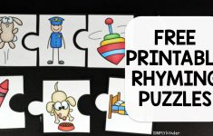 Rhyming Puzzles   Simply Kinder   Printable Rhyming Puzzles