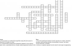 Robotics Crossword   Wordmint   Free Printable Crossword Puzzles Robotics