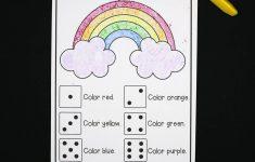 Roll A Rainbow   The Stem Laboratory   Printable Rainbow Number Puzzle