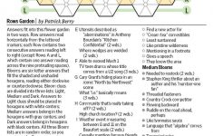 Rows Garden (Saturday Puzzle)   Wsj Puzzles   Wsj   Wall Street Journal Crossword Puzzle Printable
