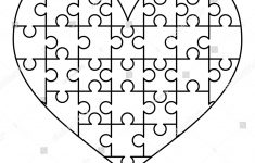 Royalty Free Stock Illustration Of White Puzzles Pieces Arranged   Printable Puzzle Heart
