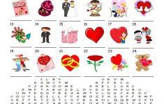 Saint Valentine's Day   Word Search Puzzle Worksheet   Free Esl   Printable Valentine Crossword Puzzles