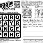Sample Of Daily Square Boggle Brainbusters | Tribune Content Agency   Printable Boggle Puzzles