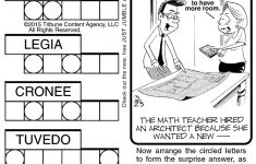 Sample Of Jumble | Tribune Content Agency (March 23, 2015)   Free   Printable Jumble Puzzles For Adults