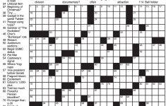 Sample Of Los Angeles Times Sunday Crossword Puzzle | Tribune   Printable Crossword Puzzles 1978