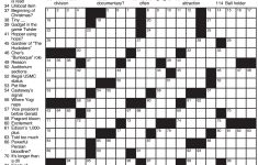 Sample Of Los Angeles Times Sunday Crossword Puzzle   Tribune   Usa Today Printable Crossword Puzzles 2015