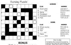 Sample Of Square Sunday Jumble Crosswords | Tribune Content Agency   Chicago Sun Times Crossword Puzzle Printable