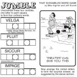 Sample Of Sunday Jumble | Tribune Content Agency | Stuff I Like   Printable Jumble Crosswords