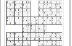 Samurai Sudoku Five Puzzle Set 1 #sudoku #worksheet | High Five   Printable Puzzle Answers