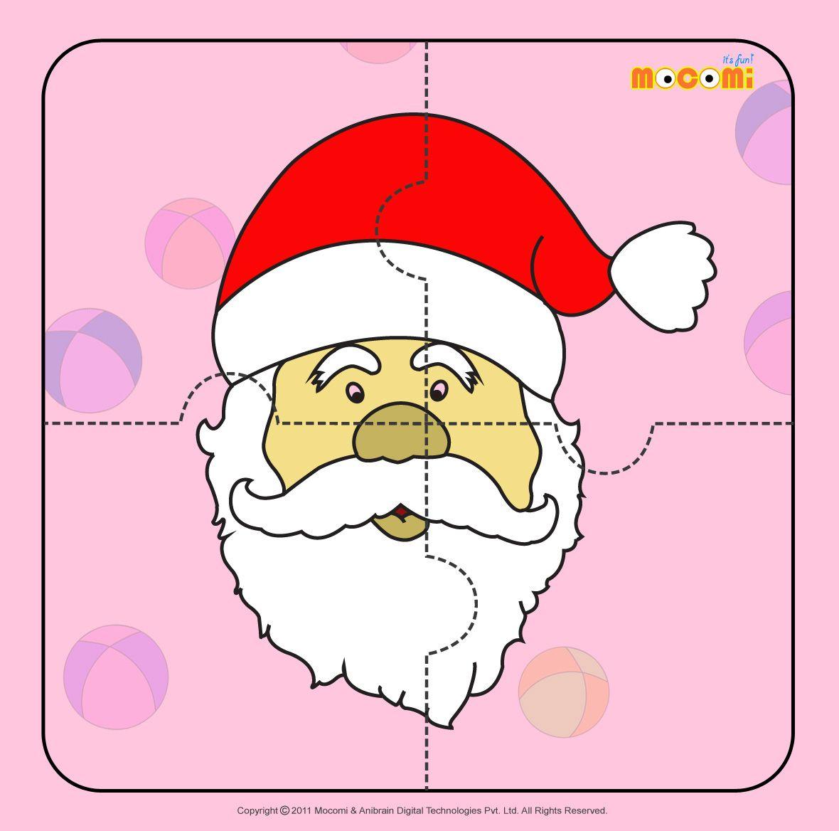 Santa Claus 2 - Jigzaw Puzzles For Kids | Printables For Kids - Printable Jigsaw Puzzle For Toddlers