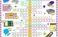 School Things : Crossword Puzzle With Key Worksheet   Free Esl   High School English Crossword Puzzles Printable