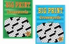 Set Of 2 Large Print Crossword Puzzle Books Soft Cover Easy To Read   Large Print Crossword Puzzle Books