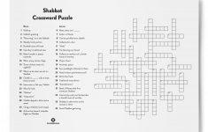 Shabbat Crossword Puzzle | Jewishboston   Printable Crossword Puzzle Boston Globe