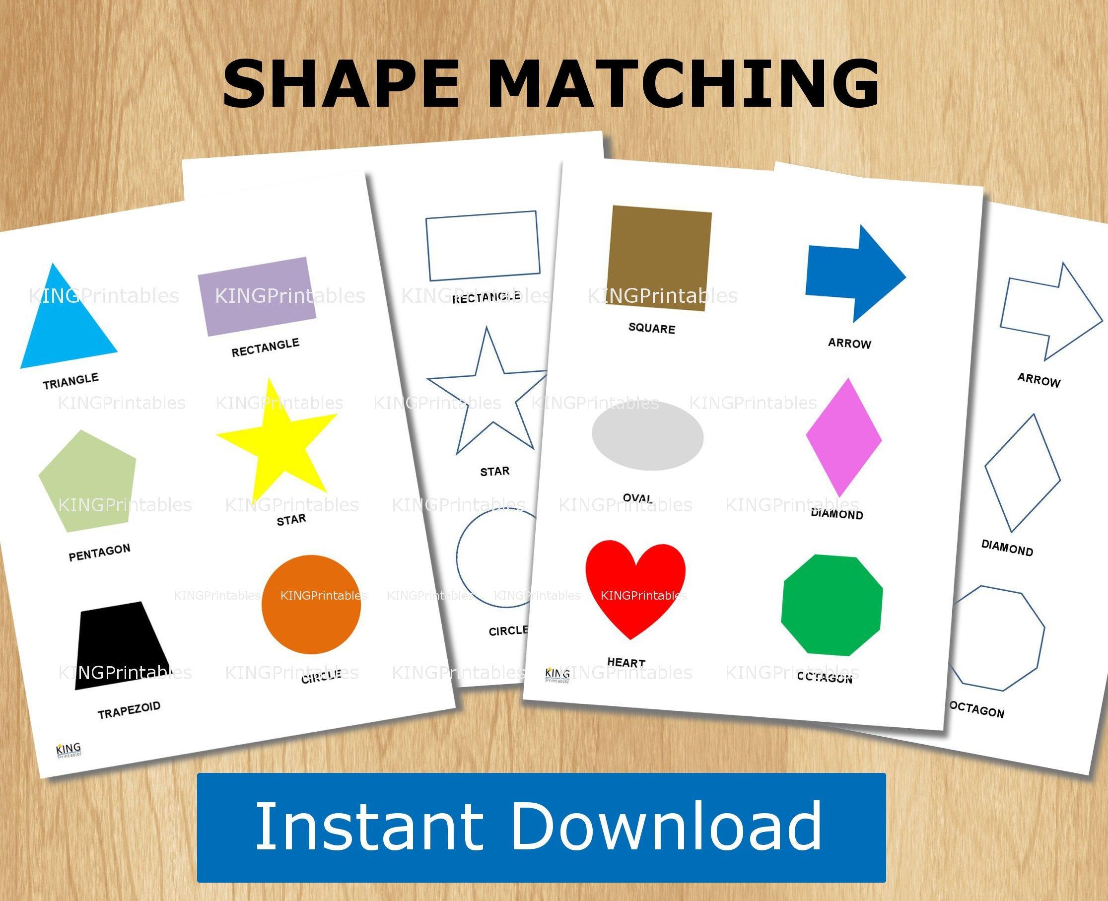 Shape Puzzle Toddler Learning Printable File Folder Games | Etsy - Printable Logo Puzzle