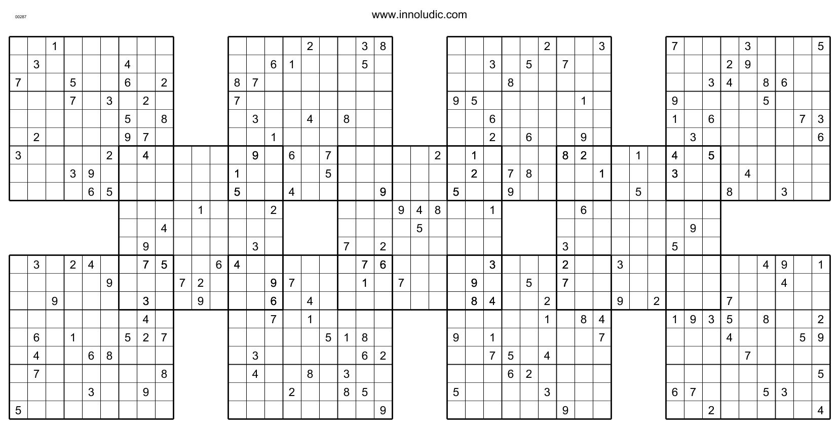 Shogun - Printable Suguru Puzzles