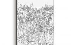 Shop Noir Gallery Jakarta Black & White City Map Canvas Wall Art   Print Puzzle Jakarta
