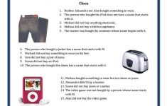 Shop Till You Drop   Logic Puzzle Worksheet   Free Esl Printable   Printable Drop Line Puzzles