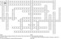 Show Me The Money!! Crossword   Wordmint   Printable Crossword Puzzle Money