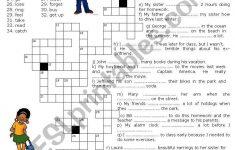Simple Past   Crossword Puzzle   Esl Worksheetluoliveira   Simple Crossword Puzzles Printable Pdf